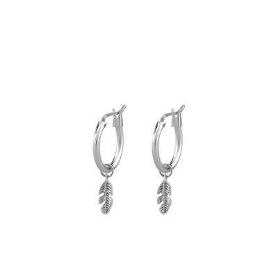 Minna Small Ring Feather Earring