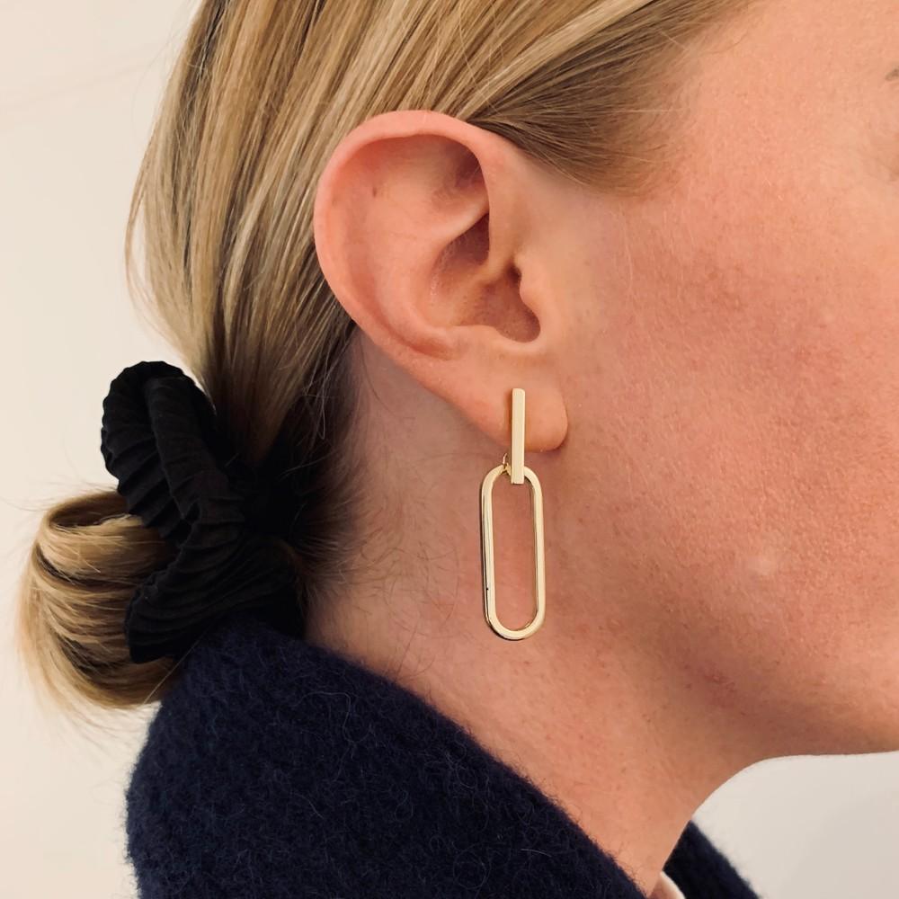Nina Big Pendant Earring