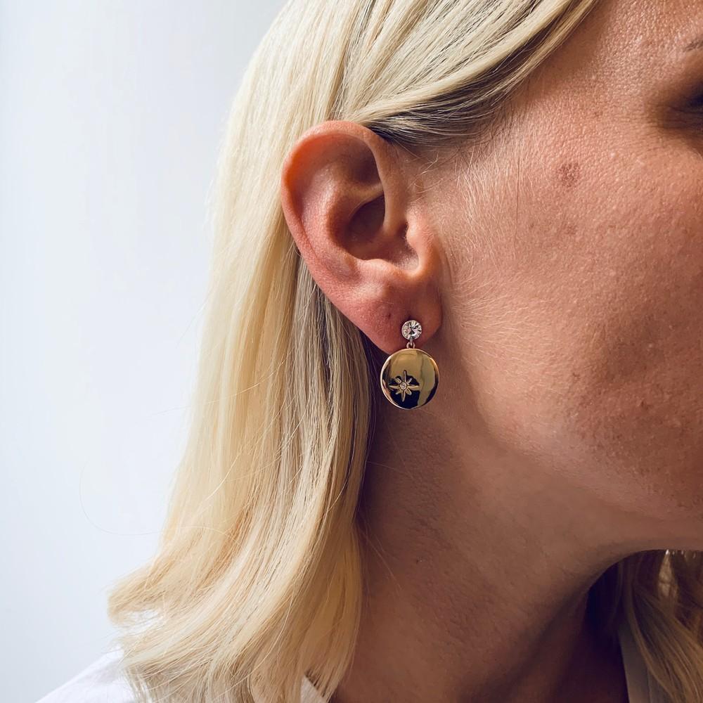 Feliz Pendant Coin Earring