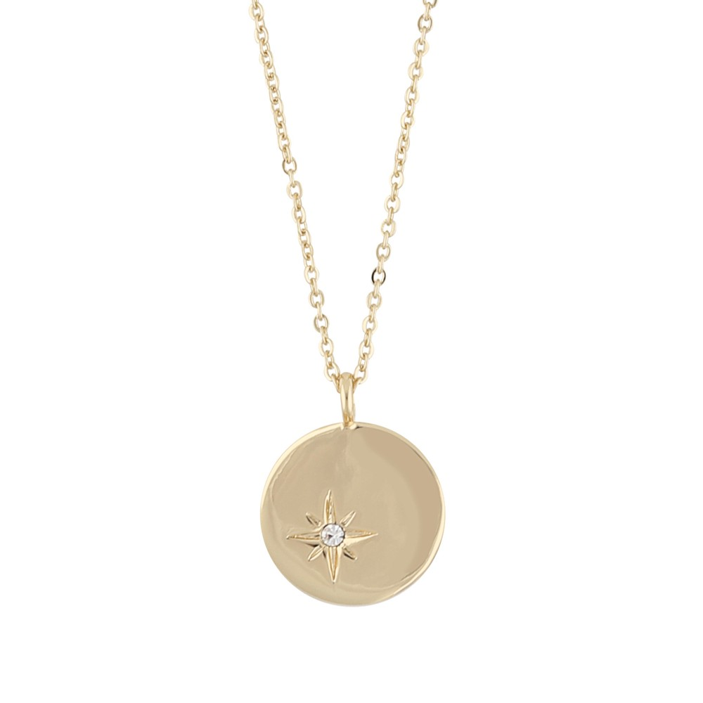 Feliz Pendant Coin Necklace