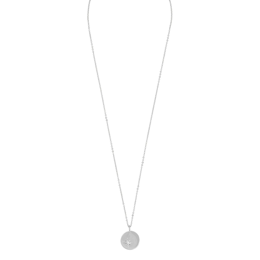 Feliz Pendant Coin Necklace