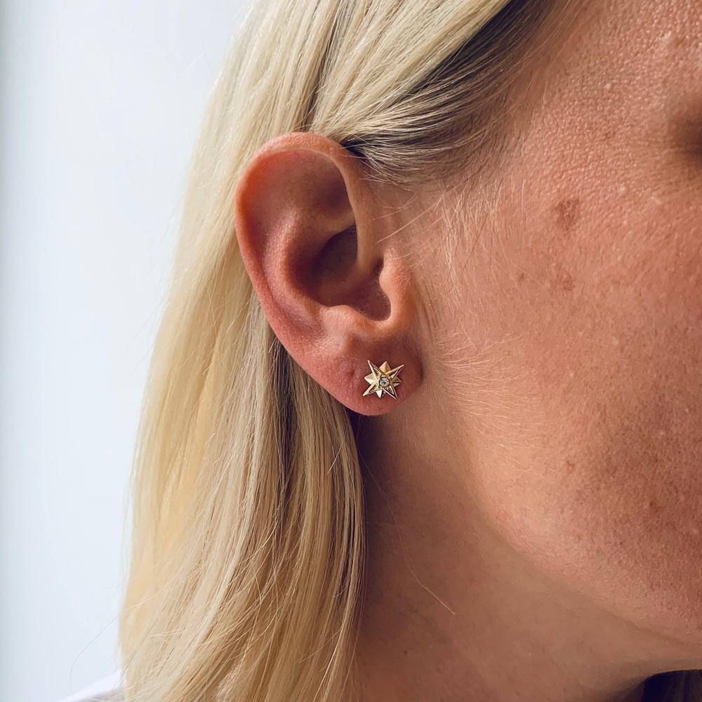 Feliz Small Stone Earring
