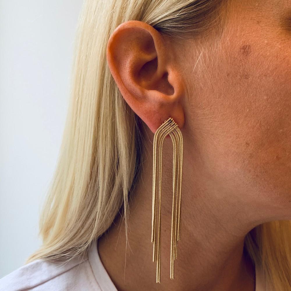 Knot Big Tassel Earring