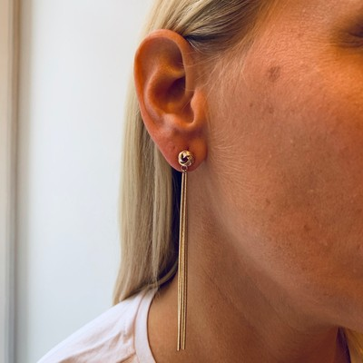Knot Chain Earring