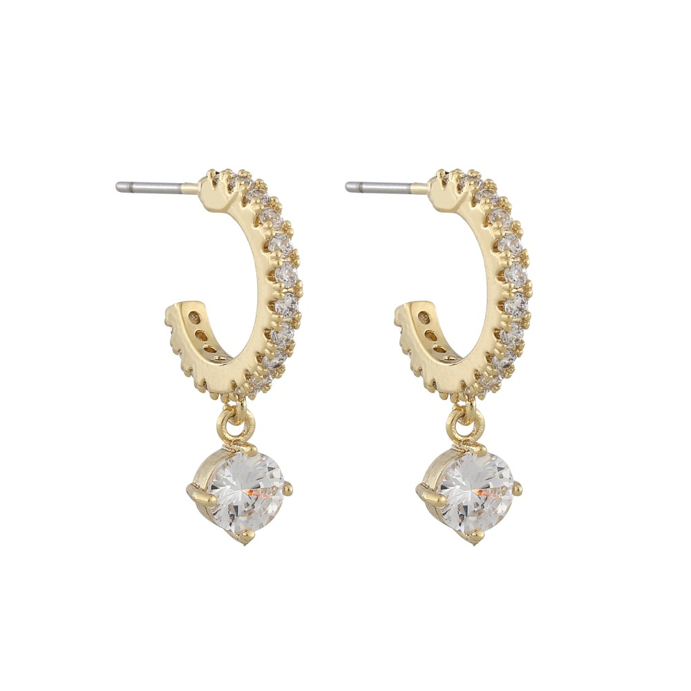 Lurie Stone Oval Pendant Earring