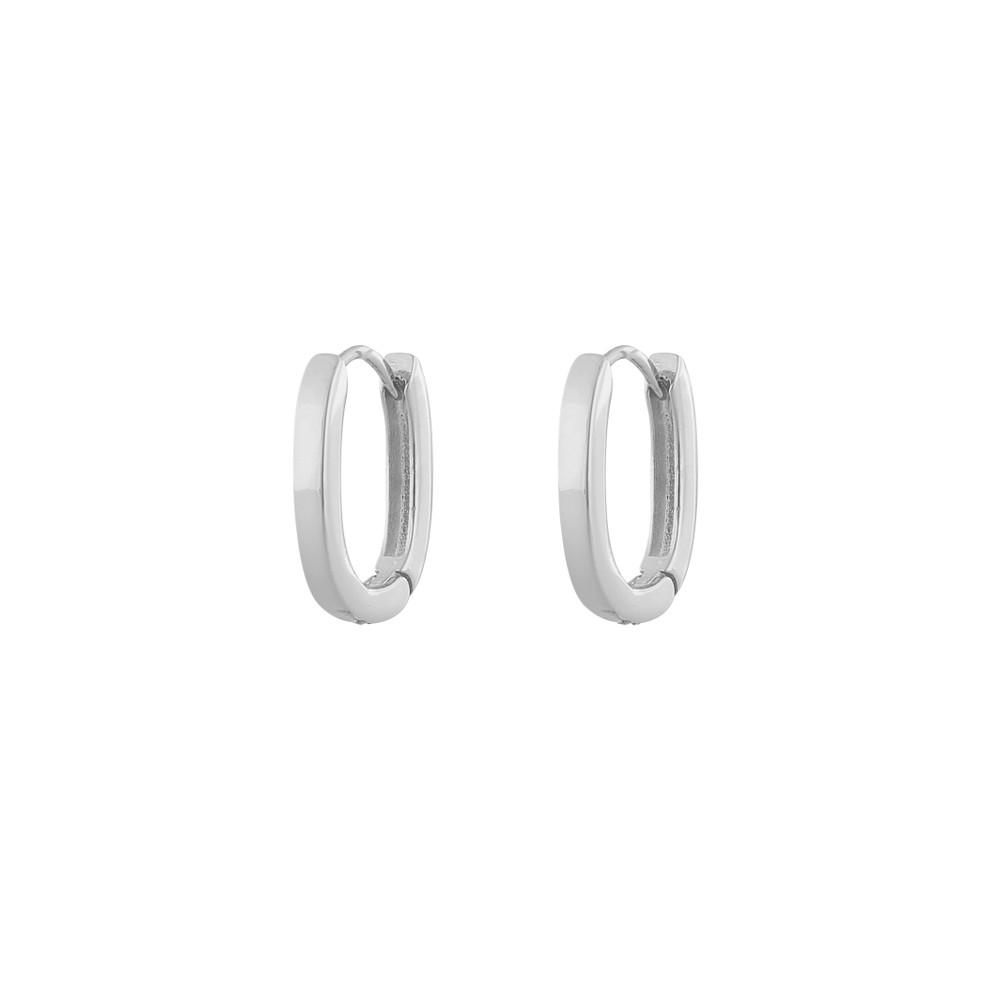 Anchor Oval Earring