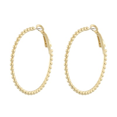 Point Big Ring Earring