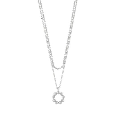 Point Small Double Necklace