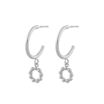 Point Small Oval Pendant Earring