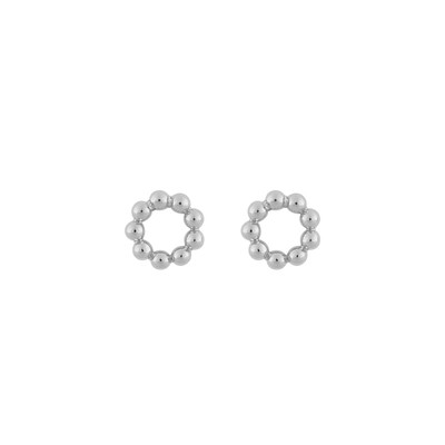 Point Small Round Earring