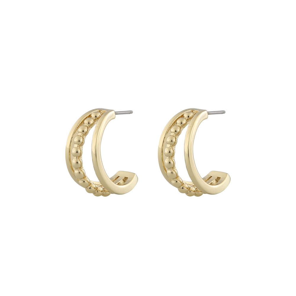 Point Wide Oval Earring