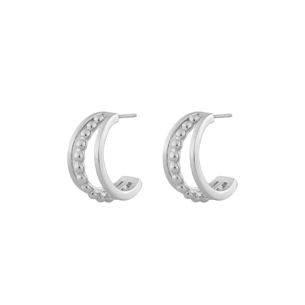 Point Wide Oval Earring
