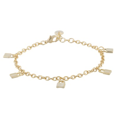 Fling Lock Charm Bracelet