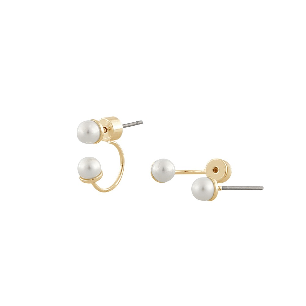 Midnight Pearl Double Earring