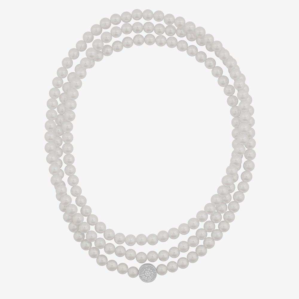 Luna Elastic Pearl Necklace