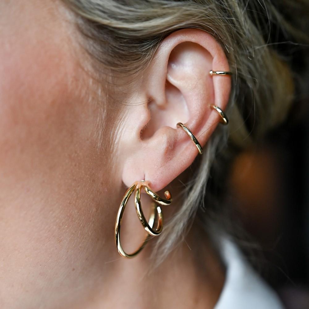 Amber Big Oval Earring