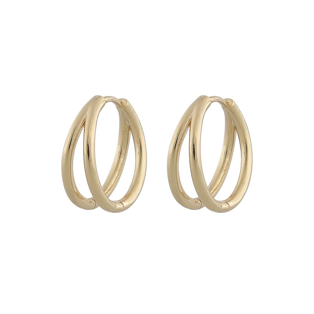Amber Oval Earring Plain G