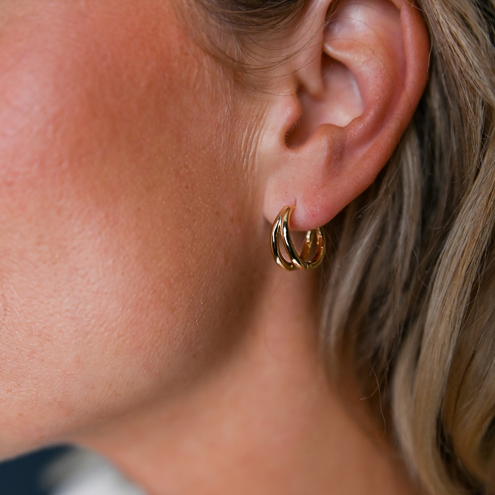 Amber Small Ovar Earring