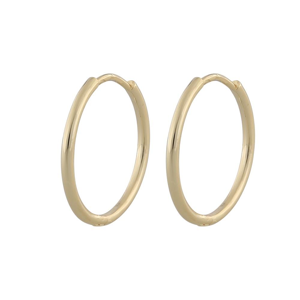 Amber Thin Big Ring Earring