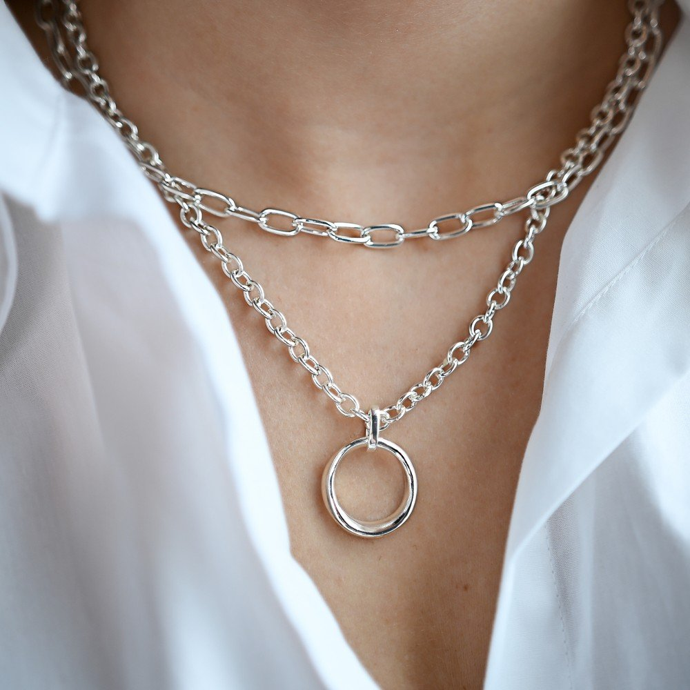 Blanche Round Pendant Necklace