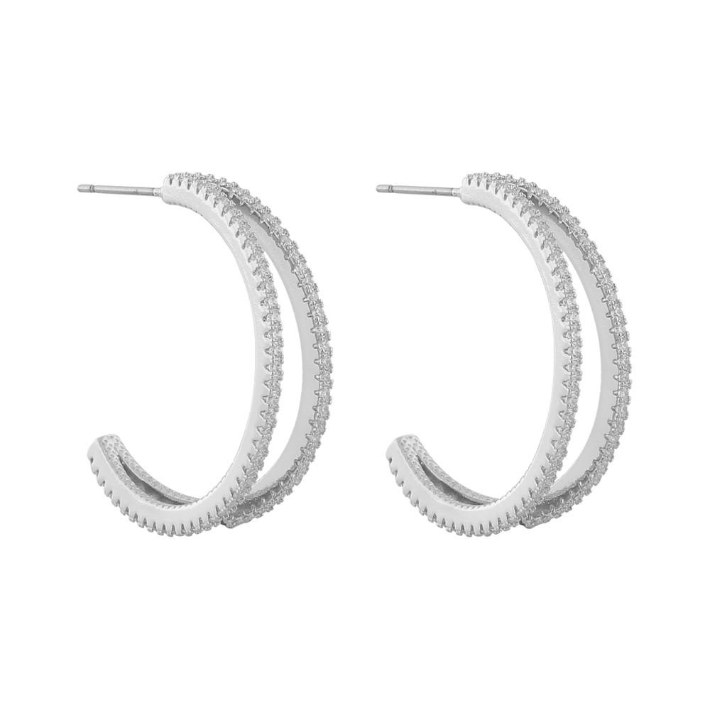 Hanni Big Double Earring