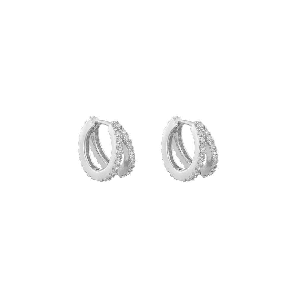 Hanni Small Double Ring Earring