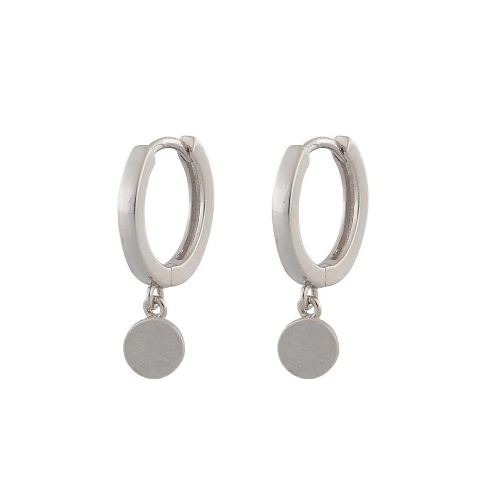 Shy Small Coin Ring Earring