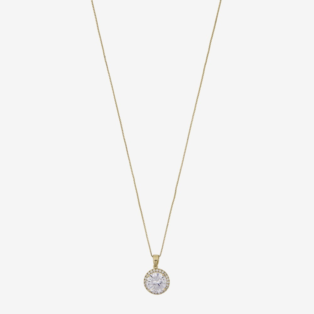 lex neck g en clear pendant gold necklace