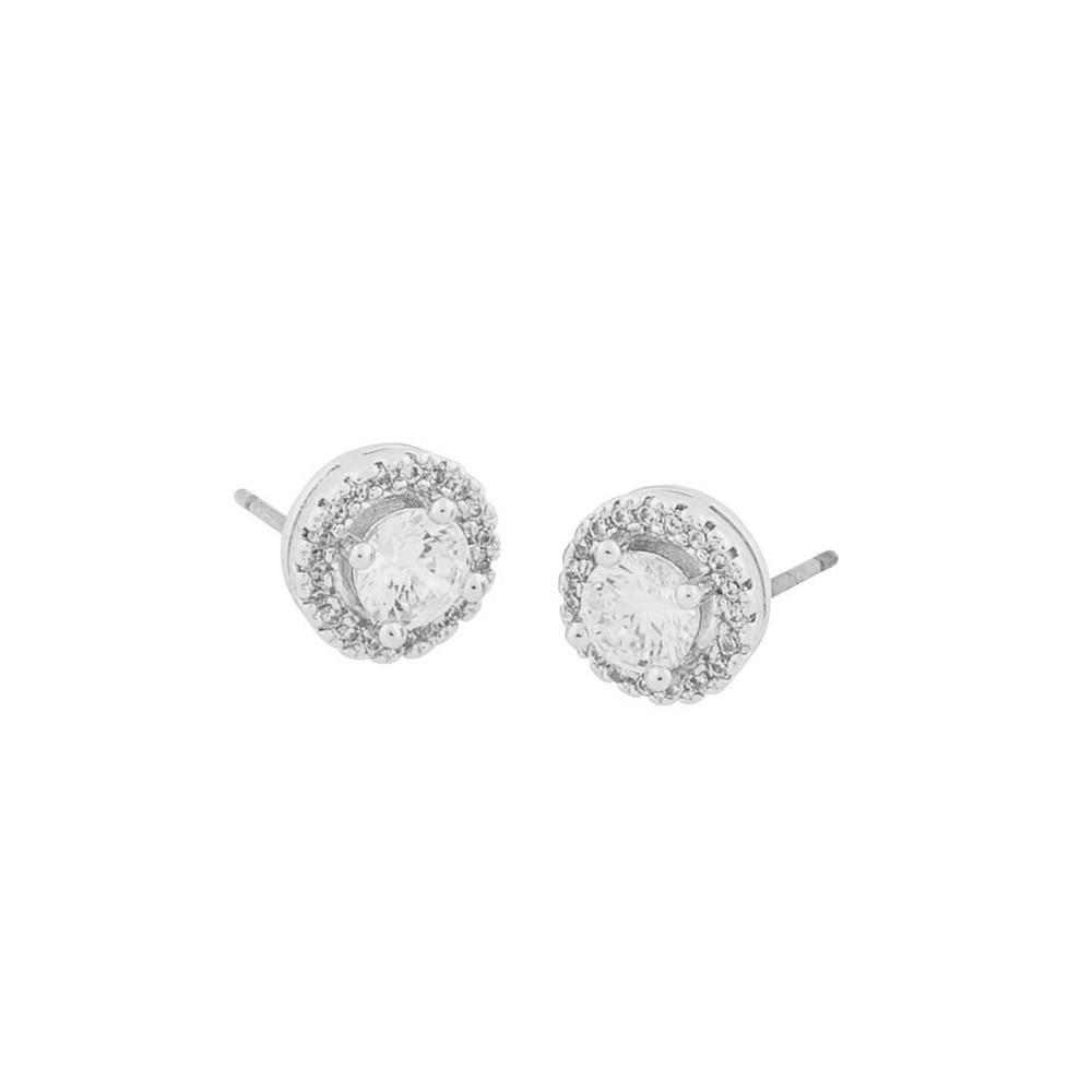 Lou Round Stone Earring